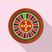 Casino Wheel Icon. Flat Illustration Of Casino Wheel Vector Icon For Web Design poster