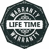 Lifetime Warranty Icon Stamp Badge Icon Guarantee poster