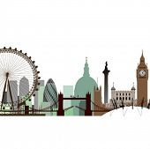 picture of westminster bridge  - A Vector Cityscape of London - JPG