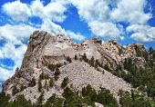 pic of mount rushmore national memorial  - Presidential Sculpture At Mount Rushmore National Monument South Dakota - JPG