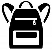Vector Illustration Of School Backpack. Backpacks For Children, Students, Travelers And Tourists. Ve poster