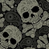 pattern with skull and peisley