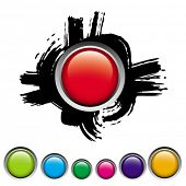image of budge  - red button - JPG