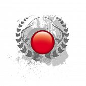 stock photo of budge  - red button - JPG