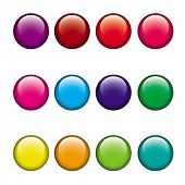 Постер, плакат: цвет кнопки set