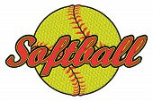 Softball Design With Textured Ball Is An Illustration Of A Softball Design That Can Be Used By You O poster