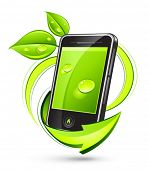 image of mobile-phone  - Green mobile - JPG