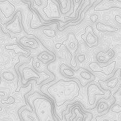 Seamless Topographic Map Contour Background. Topo Map With Elevation. Contour Map Vector. Geographic poster