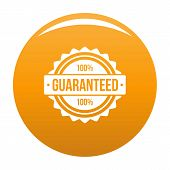 Guaranteed Logo. Simple Illustration Of Guaranteed Vector Logo For Any Design Orange poster