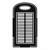 Power Bank Solar Panel Icon. Simple Illustration Of Power Bank Solar Panel Vector Icon For Web Desig poster