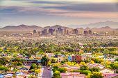 Phoenix, Arizona, USA downtown cityscape at dusk. poster