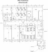 picture of dimentional  - Construction drawing of a house - JPG