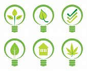 image of light-bulb  - Green energy concept  - JPG