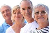 stock photo of 55-60 years old  - A group of friends - JPG