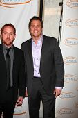 LOS ANGELES - MAY 12:  Bob Guiney, Scott Grimes arriving at the 11th Annual Lupus LA Orange Ball at