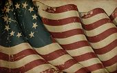 picture of betsy ross  - Illustration of a rusty Betsy Ross USA Ensign printed on old paper - JPG
