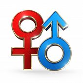 stock photo of gender  - gender female and male symbol  - JPG