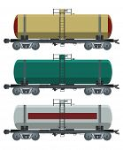 picture of track home  - Vector image of collection of cistern cars - JPG