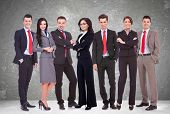 pic of crew cut  - Successful happy business team formed by business men and women - JPG