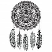stock photo of riddles  - Ethnic Dream catcher  - JPG