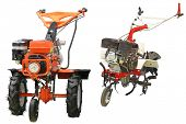 stock photo of cultivator-harrow  - cultivator under the white background - JPG