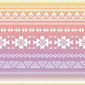 stock photo of ombre  - Vector seamless aztec ornament - JPG