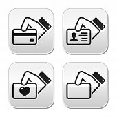 picture of payment methods  - Modern grey square buttons set  - JPG