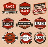 stock photo of moto-x  - Racing badges set  - JPG