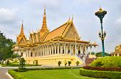 stock photo of royal palace  - The Royal Palace is a complex of buildings which serves as the royal residence of the king of Cambodia in Phnom Penh - JPG