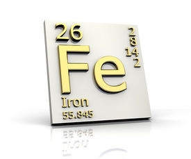 pic of periodic table elements  - Iron form Periodic Table of Elements  - JPG