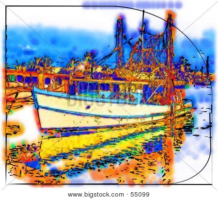Old Fishing Boat poster