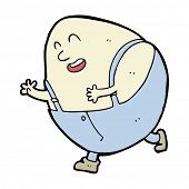 image of nursery rhyme  - cartoon humpty dumpty egg character - JPG