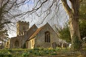 Stone Church at Springtime