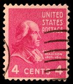UNITED STATES - CIRCA 1938 : A stamp printed in United States. Displays the profile of President Jam