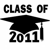Class Of 2011 School Mortar Board Graduation Cap