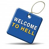 picture of sinner  - welcome to hell evil sinner go to the devil disaster - JPG