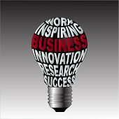 Bulb Of Work Inspiration Business Innovation Research Success