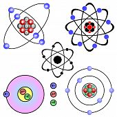 stock photo of neutrons  - Schematic structure of the atom - JPG