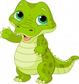 image of alligator baby  - Illustration of very cute baby alligator - JPG