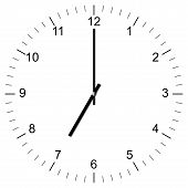 Clock Illustration 7:00