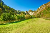 foto of pieniny  - The Pieniny Mountains sunny landscape - JPG