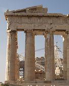 picture of akropolis  - Parthenon ancient Greek temple - JPG