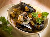 picture of clam  - mussel and clam soup - JPG