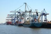 stock photo of container ship  - harbor ships - JPG