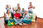 stock photo of enthusiastic  - World Cup - JPG