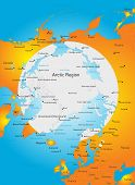 picture of north-pole  - Vector Color Illustration of North pole - JPG