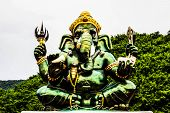 picture of ganesh  - The Ganesh in Ratchaburi province of Thailand  - JPG