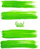 pic of dab  - Bright green acrylic brush strokes - JPG