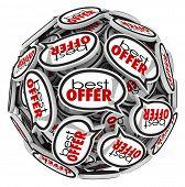 picture of maxim  - Best Offer words speech bubbles highest bidder sell buy - JPG