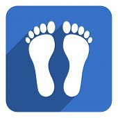 foto of flat-foot  - foot flat icon - JPG